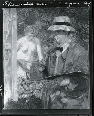 Portrait of Frieseke [painting] / (photographed by Peter A. Juley & Son)