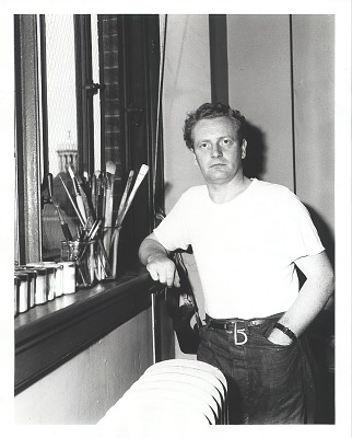 Peter Blume in his studio [photograph] / (photographed by Peter A. Juley & Son)