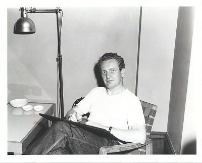 Peter Blume at work in his studio [photograph] / (photographed by Peter A. Juley & Son)
