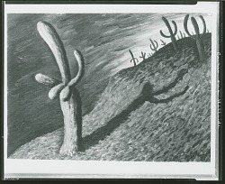 Paisaje cos Cactus [painting] / (photographed by Peter A. Juley & Son)