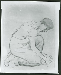 No Title Given: Worker [drawing] / (photographed by Peter A. Juley & Son)