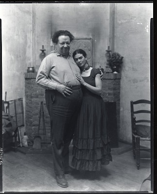 Diego Rivera and Frida Kahlo, San Francisco, California [photograph] / (photographed by Peter A. Juley & Son)