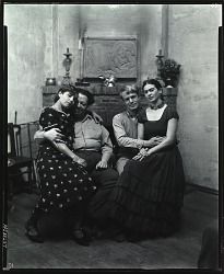Diego Rivera and Frida Kahlo with Lucile and Arnold Blanch, San Francisco, California [photograph] / (photographed by Peter A. Juley & Son)