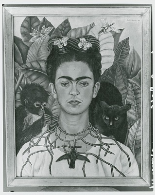 Self-Portrait with Thorn Necklace and Hummingbird, [painting] / (photographed by Peter A. Juley & Son)