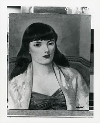 Female Bust [painting] / (photographed by Peter A. Juley & Son)