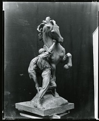 Youth Conquering the Wild [sculpture] / (photographed by Peter A. Juley & Son)