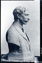 Ernest Schelling (side view) [sculpture] / (photographed by Peter A. Juley & Son)