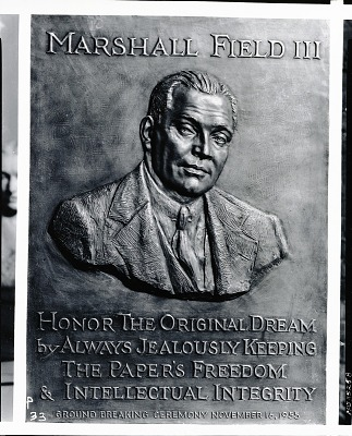 Marshall Field III (relief) [sculpture] / (photographed by Peter A. Juley & Son)