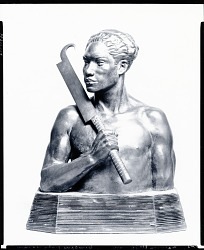 Hall of Man Series: Samoan Warrior [sculpture] / (photographed by Peter A. Juley & Son)