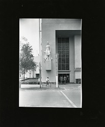 Architectural Sculpture: Figure Holding a Staff [sculpture] / (photographed by Peter A. Juley & Son)