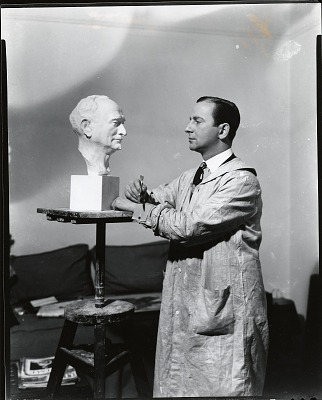 Nison A. Tregor in his studio [photograph] / (photographed by Peter A. Juley & Son)