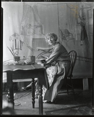 Bianca Todd in her studio [photograph] / (photographed by Peter A. Juley & Son)