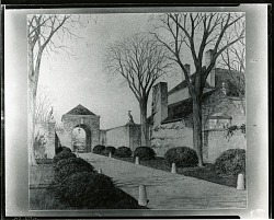 M. M. Van Beuren House (Newport, RI), Exterior Drive [drawing] / (photographed by Peter A. Juley & Son)