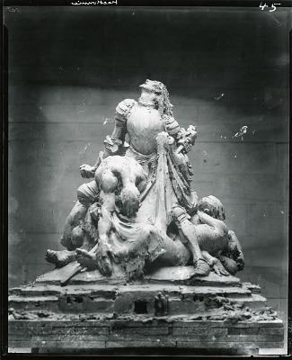 France as Joan of Arc in Armor (sketch for Marne Battle Memorial) [sculpture] / (photographed by Peter A. Juley & Son)
