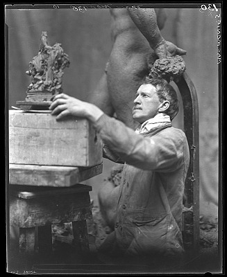 Frederick MacMonnies [photograph] / (photographed by Peter A. Juley & Son)