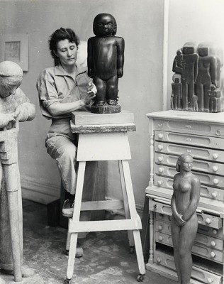 Marion Walton in her studio [photograph] / (photographed by Peter A. Juley & Son)