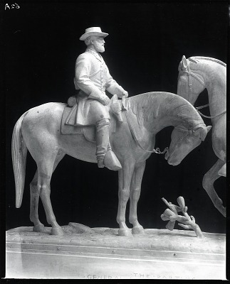 Parting of General Lee and Stonewall Jackson on the Eve of Chancellorsville (detail) [sculpture] / (photographed by Peter A. Juley & Son)