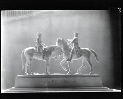Parting of General Lee and Stonewall Jackson on the Eve of Chancellorsville [sculpture] / (photographed by Peter A. Juley & Son)