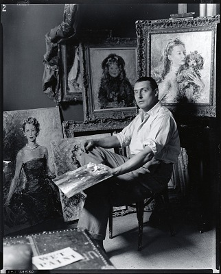 Count Uberto Pallastrelli di Celleri in his studio [photograph] / (photographed by Peter A. Juley & Son)
