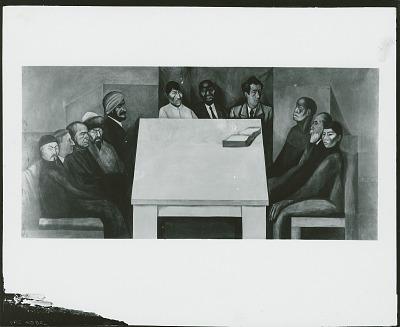 Revolution and Universal Brotherhood:Table of Universal Brotherhood [fresco] / (photographed by Peter A. Juley & Son)
