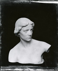 Marble Bust (study for figure of History, Maine Memorial Monument, New York) [sculpture] / (photographed by Peter A. Juley & Son)