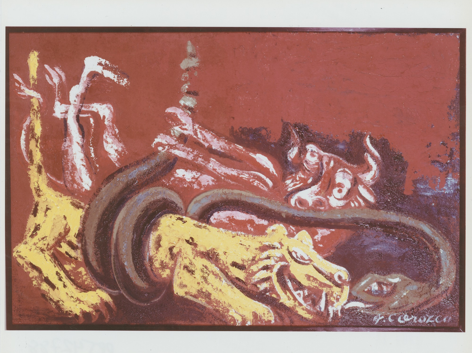 Jaguar, Cow and Serpent [painting] / (photographed by Peter A. Juley & Son)