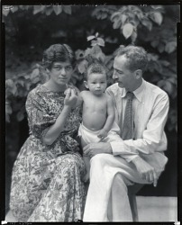 George Biddle and his wife Helene Sardeau and child [photograph] / (photographed by Peter A. Juley & Son)