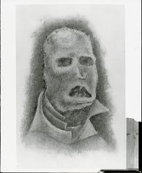 """""""Capsules encore du néant dans la bouche de l'homme"""" --St. Jean Perse [painting] / (photographed by Peter A. Juley & Son)"""