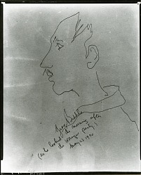 George Biddle as He Looked the Morning After the Wanger Party [drawing] / (photographed by Peter A. Juley & Son)