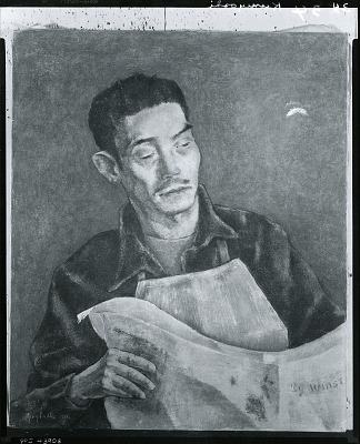 Portrait of Yasuo Kuniyoshi [painting] / (photographed by Peter A. Juley & Son)