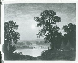 Moonlight, Indian Encampment [painting] / (photographed by Peter A. Juley & Son)