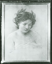 Study of Head for Westward (Iowa State Capitol, Des Moines Iowa) [drawing] / (photographed by Peter A. Juley & Son)