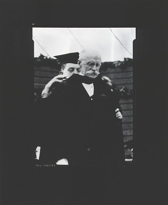 Edwin Howland Blashfield in academic gown [photograph] / (photographed by Peter A. Juley & Son)
