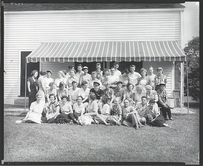 Robert Brackman with summer school class at Noank, Connecticut, 1950 [photograph] / (photographed by Peter A. Juley & Son)