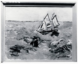 Sea and Boat No. 1 [painting] / (photographed by Peter A. Juley & Son)