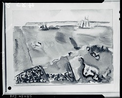 Boat, Sea and Land [painting] / (photographed by Peter A. Juley & Son)