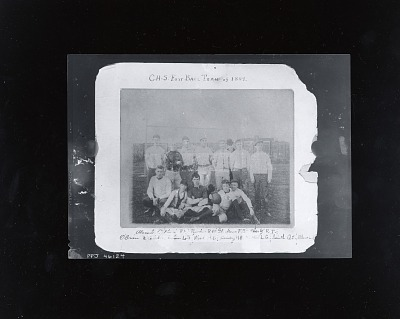 William Glackens with C.H.S. Football Team of 1889 [photograph] / (photographed by Peter A. Juley & Son)