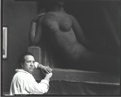 Oronzio Maldarelli in his studio [photograph] / (photographed by Peter A. Juley & Son)