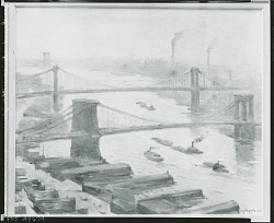 East River Haze [painting] / (photographed by Peter A. Juley & Son)