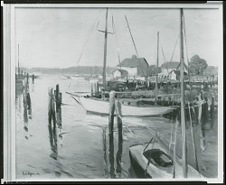 No Title Given: Wharf [painting] / (photographed by Peter A. Juley & Son)