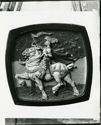 Knight on Horseback [sculpture] / (photographed by Peter A. Juley & Son)
