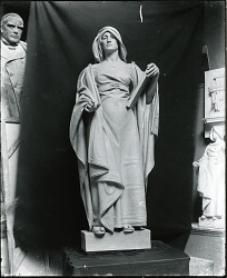 The Hebrew Law Giver (model) [sculpture] / (photographed by Peter A. Juley & Son)