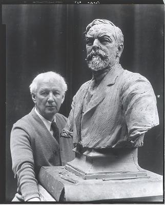 Alexander Stirling Calder with model for