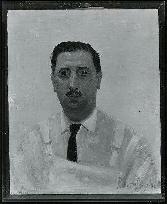 Portrait of Rudolph Guertler (?) [painting] / (photographed by Peter A. Juley & Son)