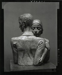 Man and Woman Embracing [sculpture] / (photographed by Peter A. Juley & Son)