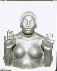 Bust of a Woman, Eyes Closed [sculpture] / (photographed by Peter A. Juley & Son)