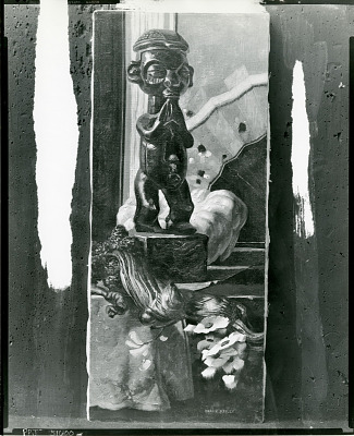 Still Life with Sculpture and Branch [painting] / (photographed by Peter A. Juley & Son)