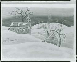 Country School House in Winter [painting] / (photographed by Peter A. Juley & Son)