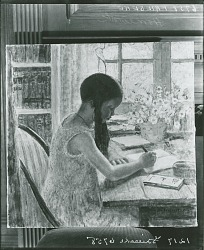 Homework [painting] / (photographed by Peter A. Juley & Son)