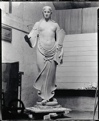 No Title Given: Female Figure [sculpture] / (photographed by Peter A. Juley & Son)